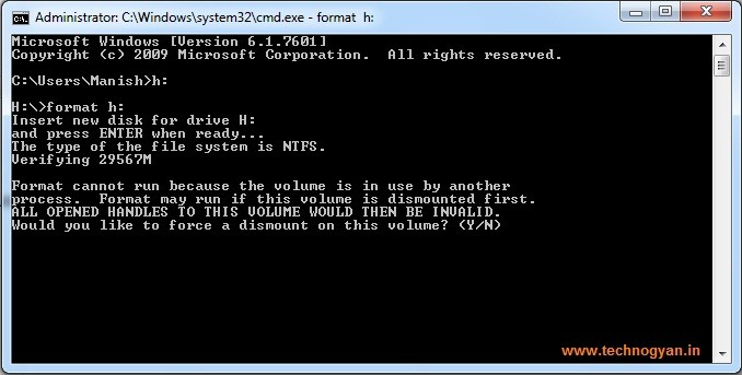 How to format hard disk drive using CMD
