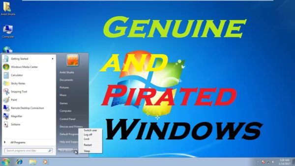 Difference between Genuine and Pirated Windows