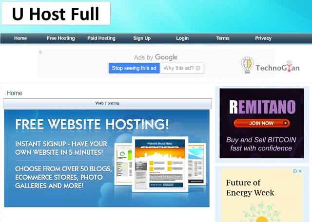 uhostfull free web hosting site