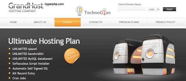 hyperphp free web hosting site