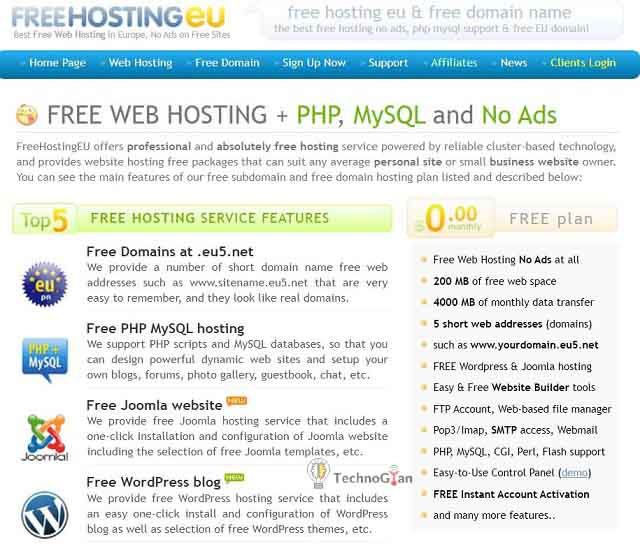 freehostingeu free web hosting site